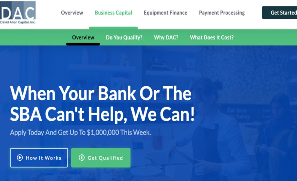 David Allen Capital-Business Funding Team-Get the best business funding available for your business, start up or investment. 0% APR credit lines and credit line available. Unsecured lines of credit up to 200K. Quick approval and funding.